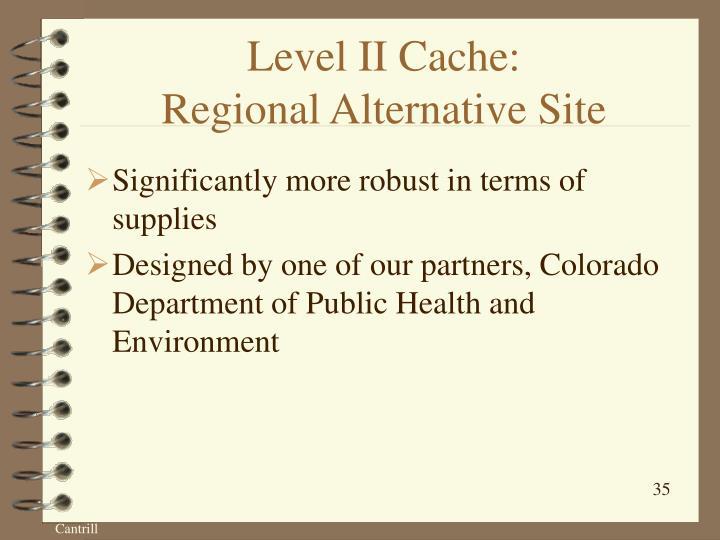 Level II Cache: