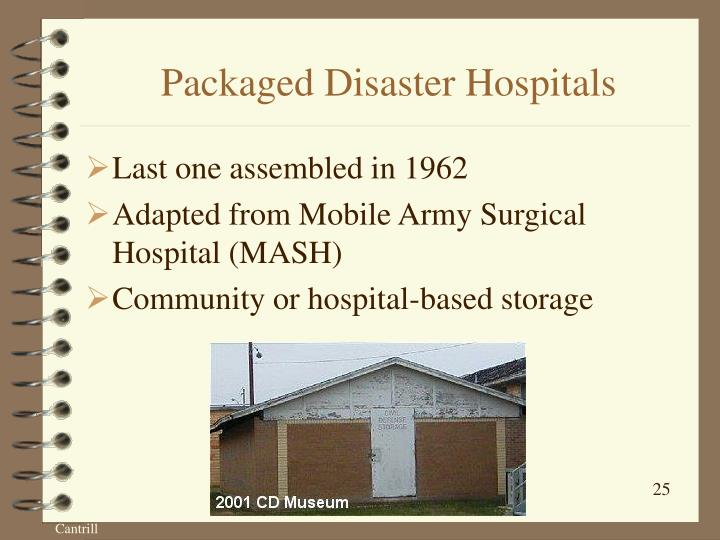 Packaged Disaster Hospitals