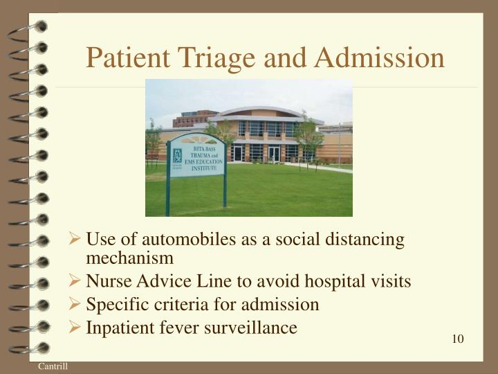 Patient Triage and Admission