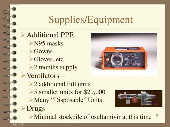 Supplies/Equipment