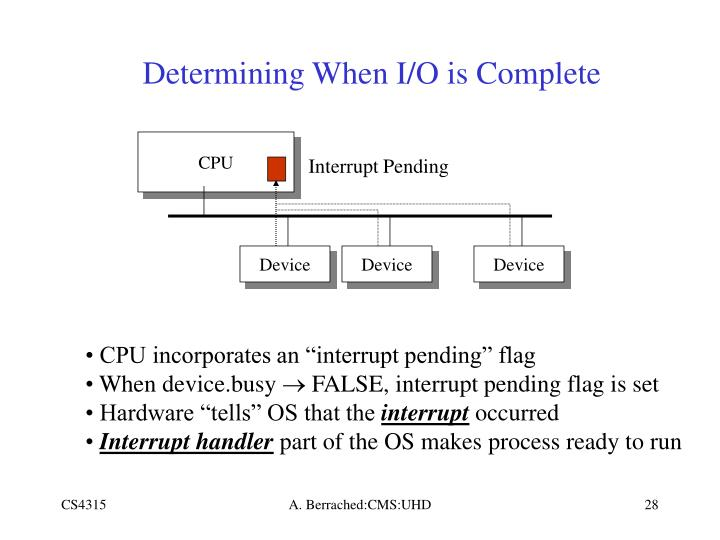 Determining When I/O is Complete