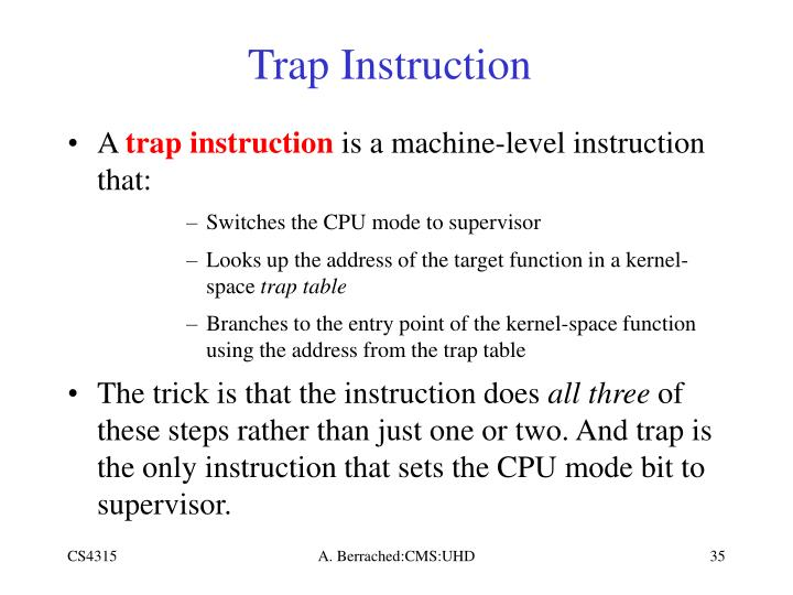 Trap Instruction