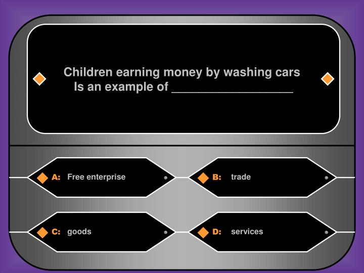 Children earning money by washing cars