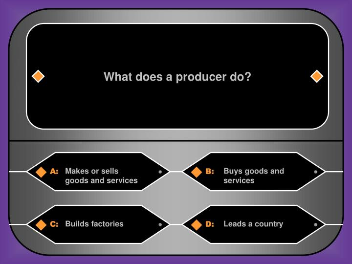 What does a producer do?