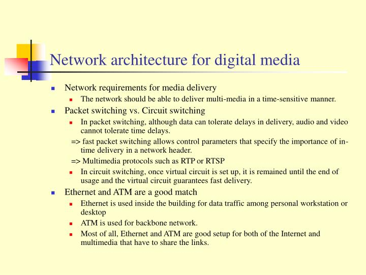 Network architecture for digital media