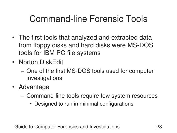 Command-line Forensic Tools
