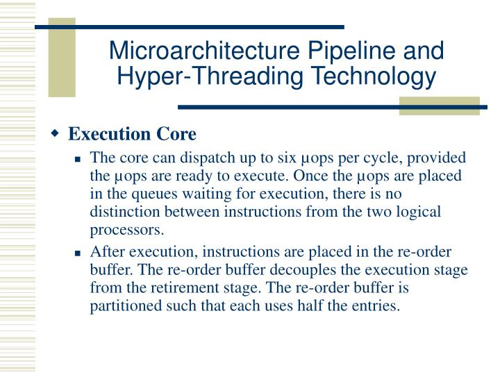 Microarchitecture Pipeline and