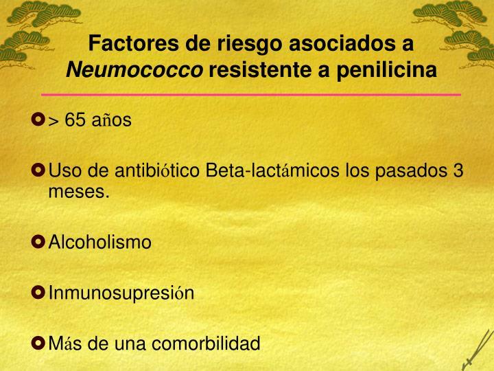 Factores de riesgo asociados a