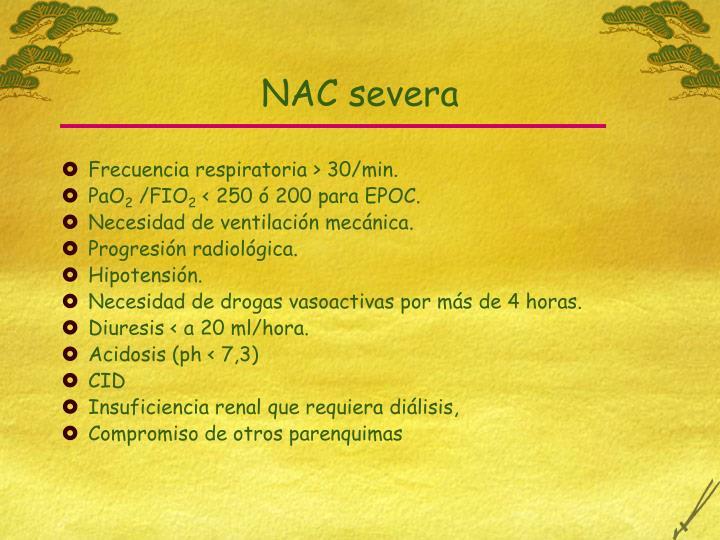 NAC severa