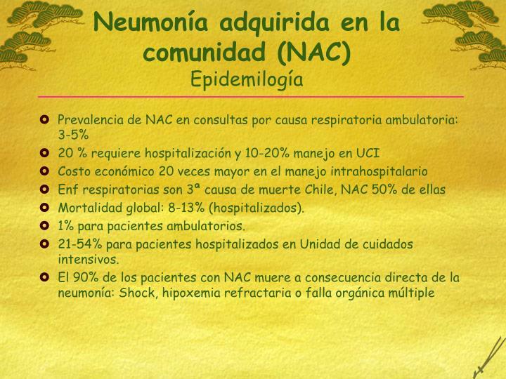 Neumonía adquirida en la comunidad (NAC)
