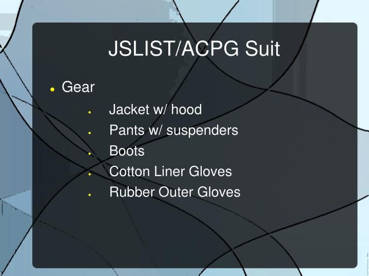 JSLIST/ACPG Suit