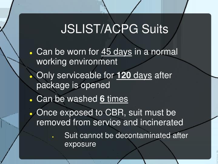 JSLIST/ACPG Suits