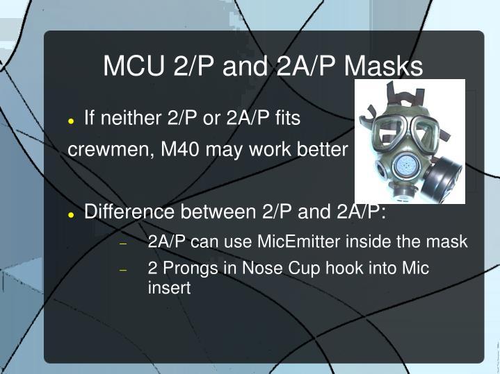 MCU 2/P and 2A/P Masks