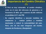 i mportancia del cambio clim tico 1