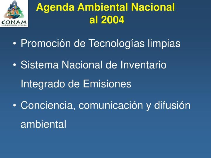 Agenda Ambiental Nacional