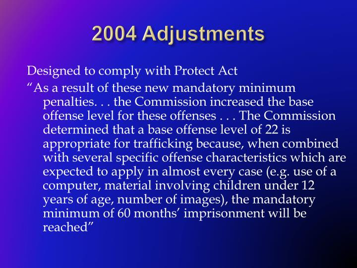 2004 Adjustments