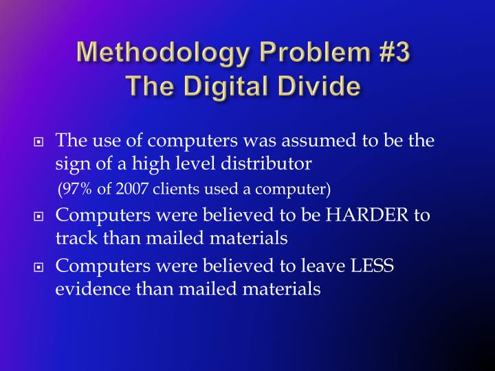 Methodology Problem #3