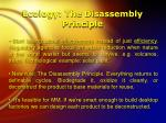 ecology the disassembly principle