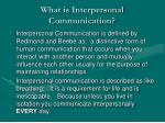 what is interpersonal communication