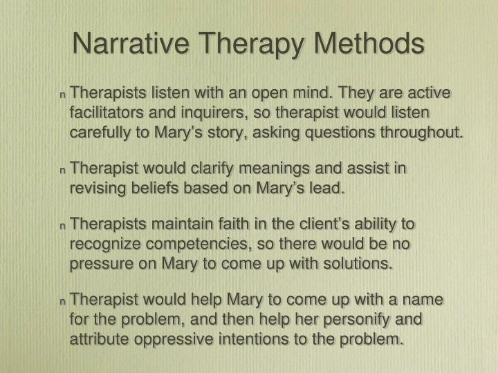 Narrative Therapy Methods