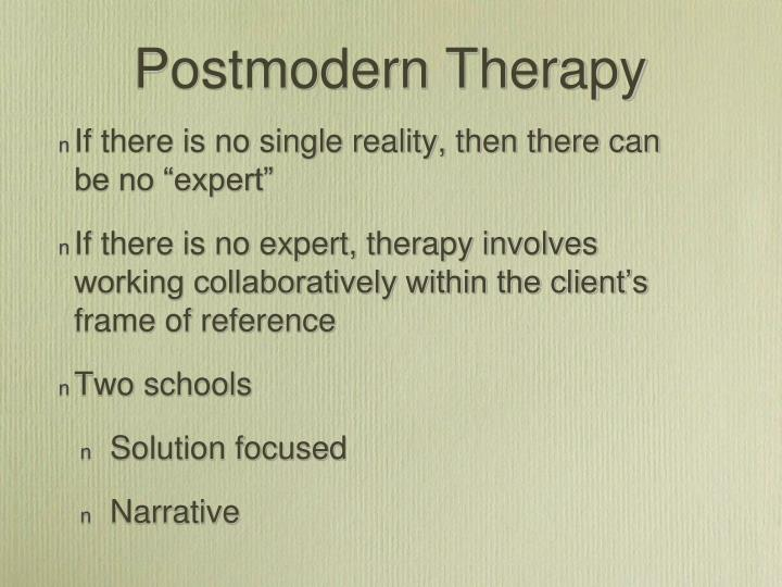 Postmodern therapy
