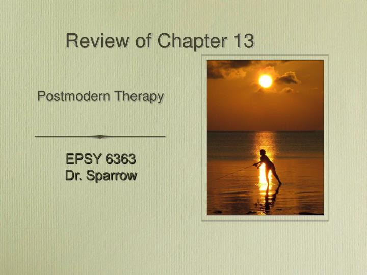 Review of chapter 13