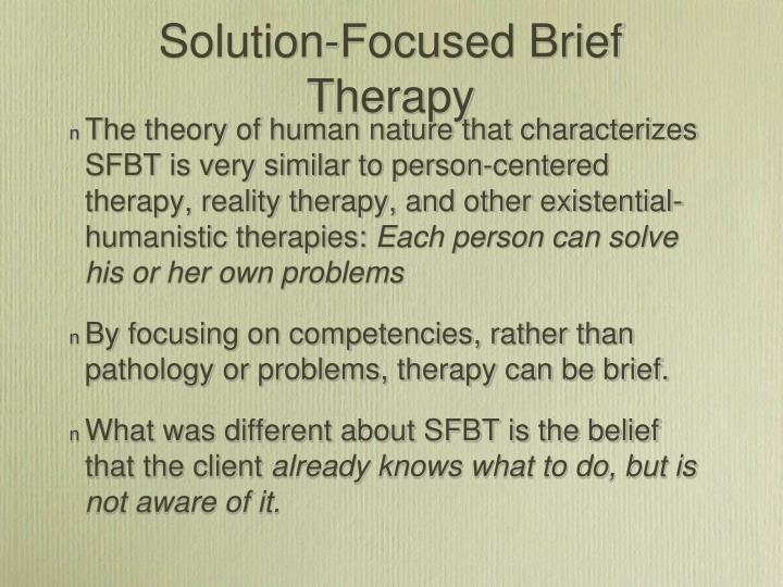 Solution-Focused Brief  Therapy