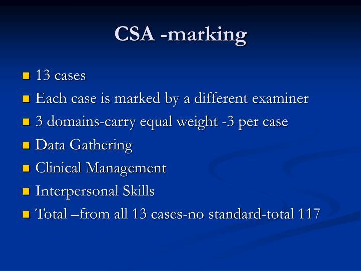 CSA -marking