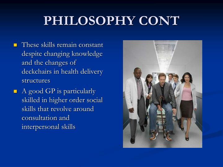 PHILOSOPHY CONT