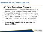 decommission announcements1