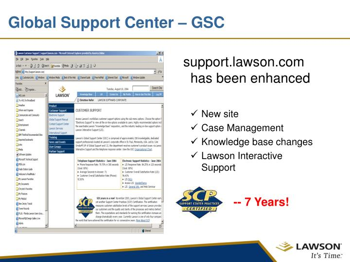 Global Support Center – GSC