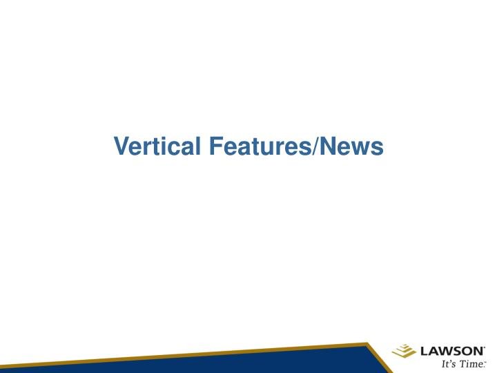 Vertical Features/News