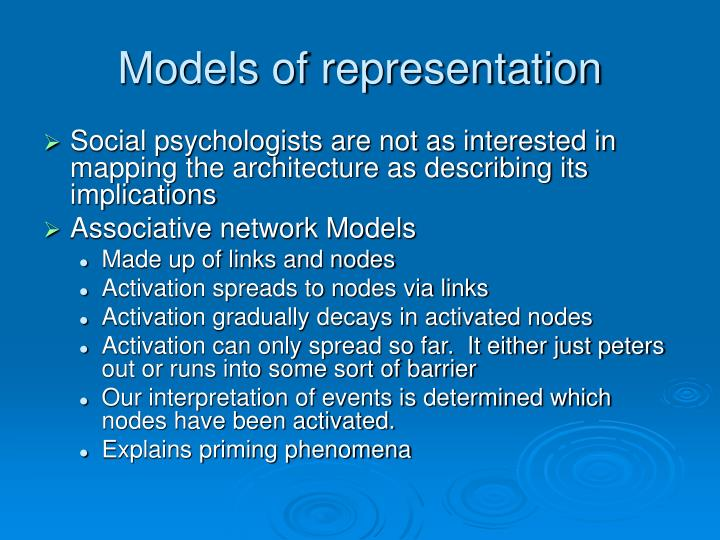 Models of representation