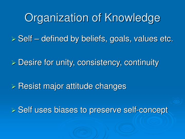 Organization of Knowledge