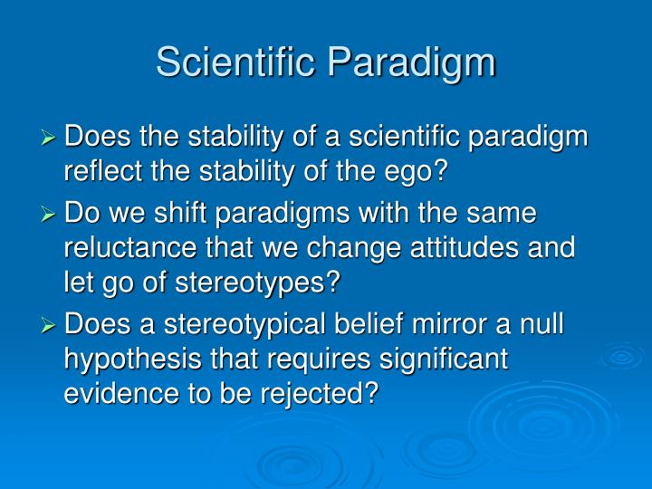Scientific Paradigm
