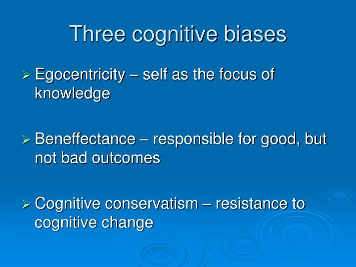 Three cognitive biases
