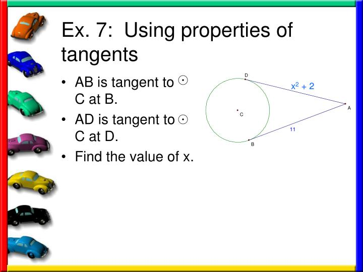 AB is tangent to    C at B.