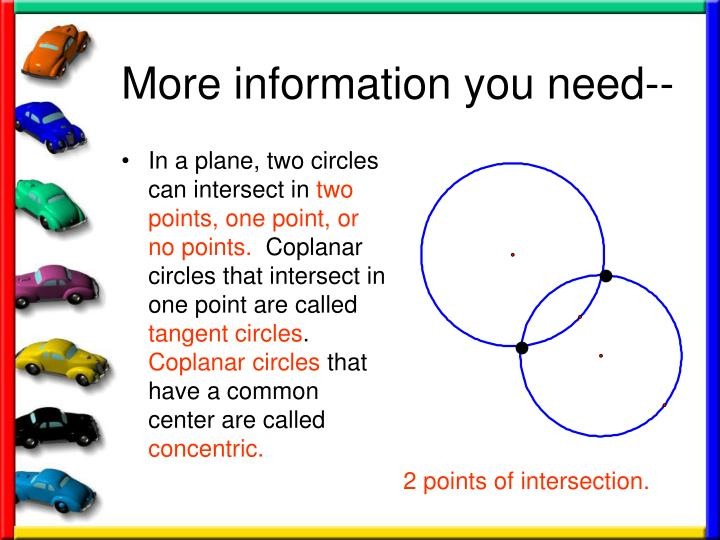 In a plane, two circles can intersect in