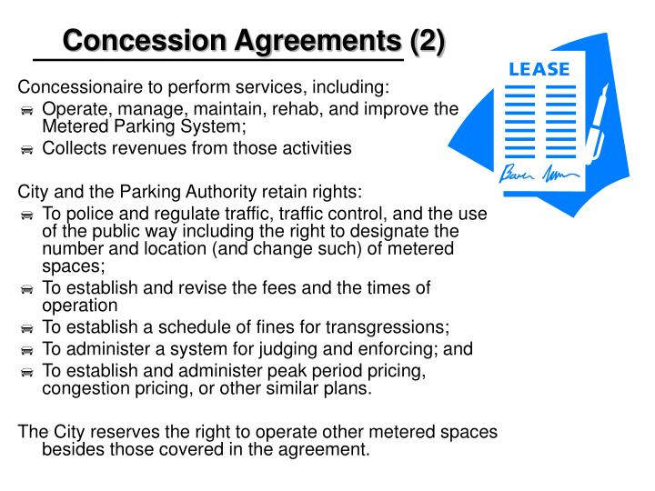 Concession Agreements (2)