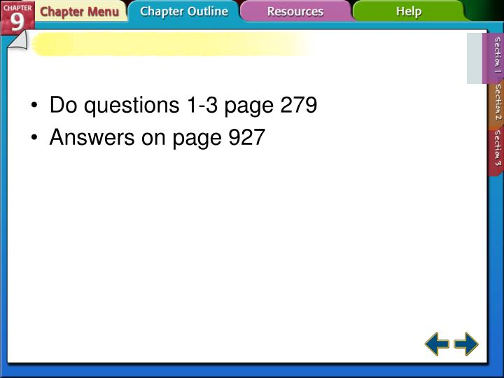 Do questions 1-3 page 279