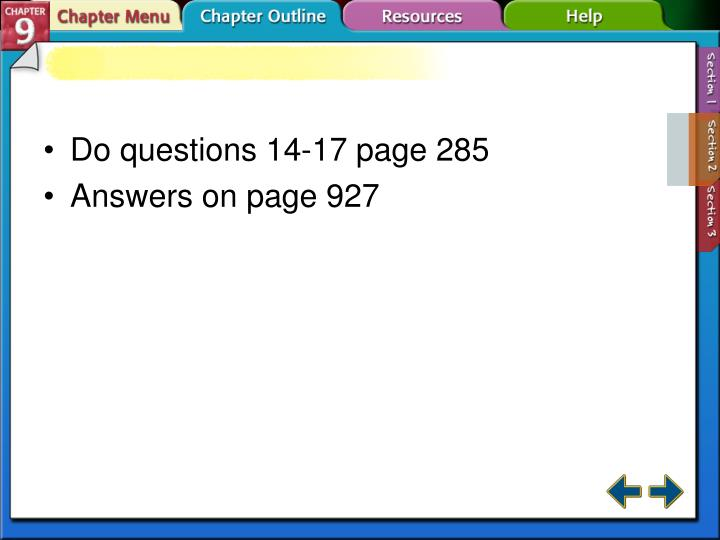 Do questions 14-17 page 285