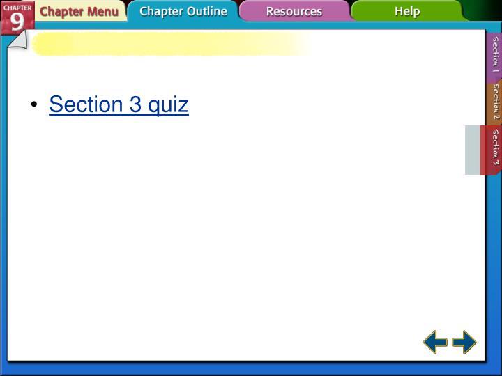Section 3 quiz