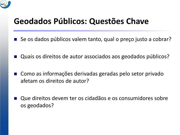 Geodados Públicos: Questões Chave