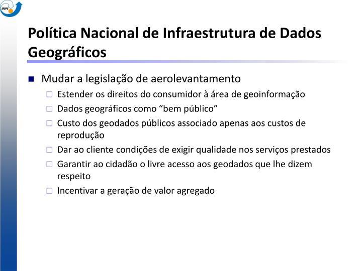 Política Nacional de Infraestrutura de Dados Geográficos