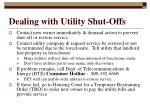 dealing with utility shut offs
