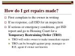 how do i get repairs made