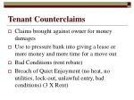tenant counterclaims