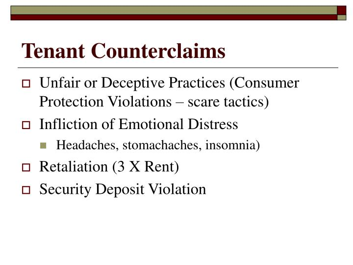 Tenant Counterclaims