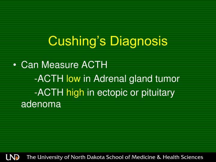 Cushing's Diagnosis