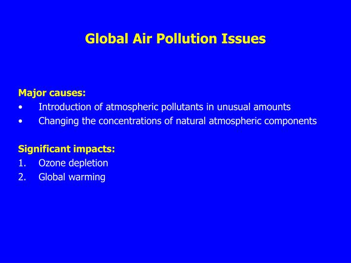 Global Air Pollution Issues
